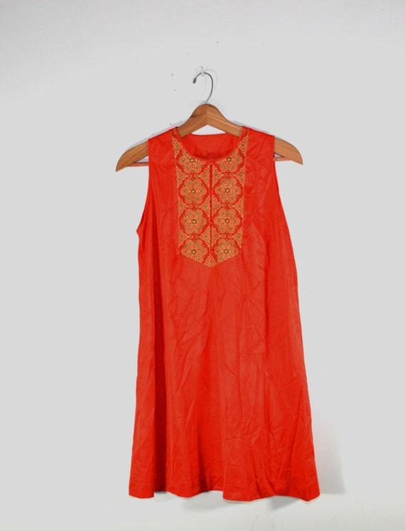 Vintage Boho Pajama Set Boho Nightgown Embroidered