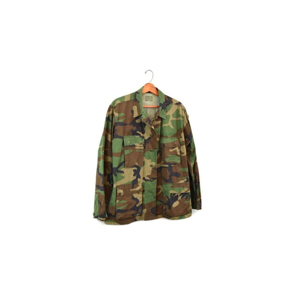 Camo Jacket Camo Shirt Army Jacket Army Shirt Cam… - image 2
