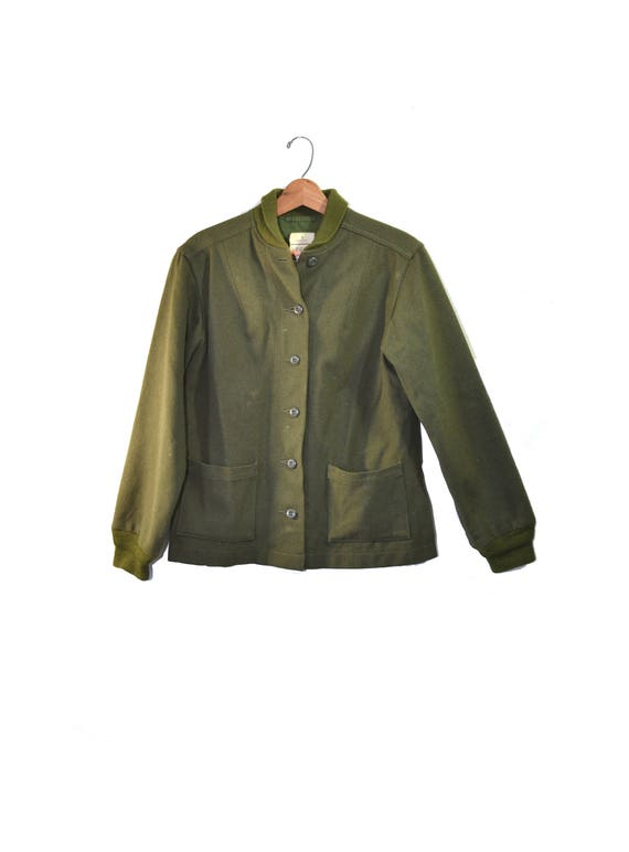 Vintage Army Jacket  Green Army Jacket Liner Wool