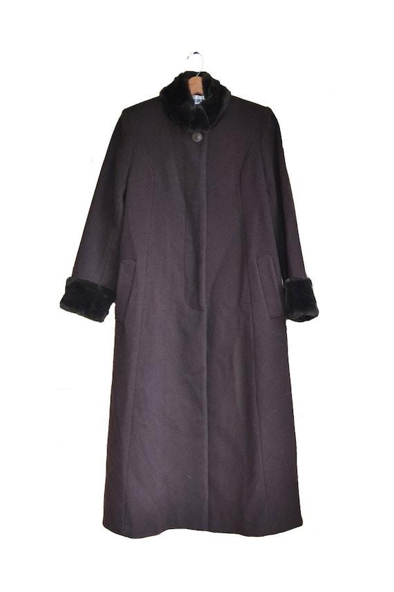 Vintage Brown Wool Coat Brown Coat Women's Dress C