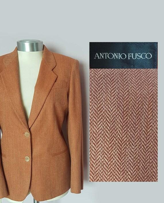 Vintage Italian Wool Blazer , 100%  Wool Antonio F