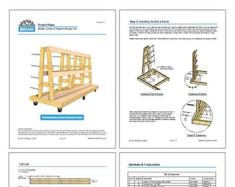 PDF Project Mobile Lumber, Plywood, & Material Storage Cart Plans