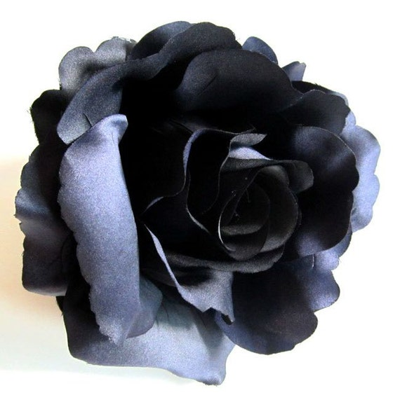 2x huge black roses artificial silk flower heads 6 inches etsy image 0 mightylinksfo