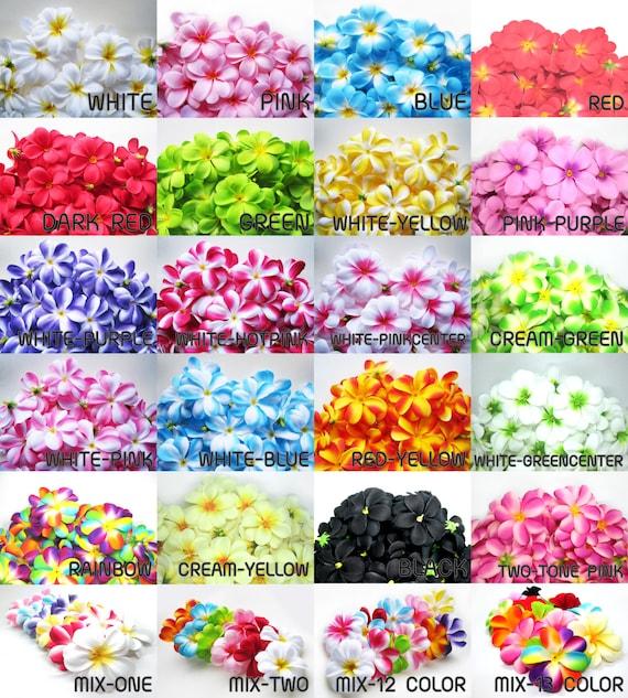 100 plumeria frangipani heads artificial silk flower 3 etsy image 0 mightylinksfo