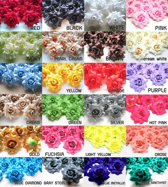 24 mini silk roses heads single tone artificial silk flower etsy image 0 mightylinksfo