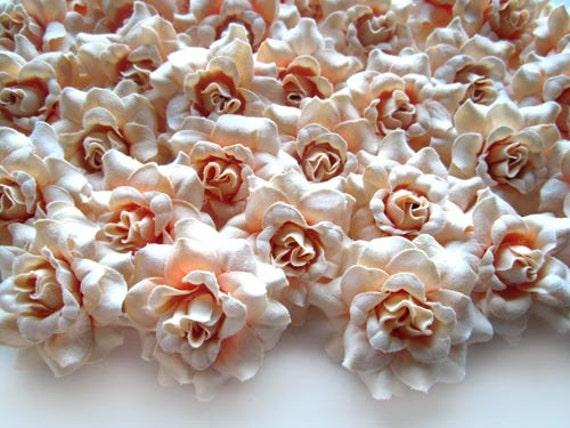 100 creme mini rosen k pfe k nstliche silk flower. Black Bedroom Furniture Sets. Home Design Ideas