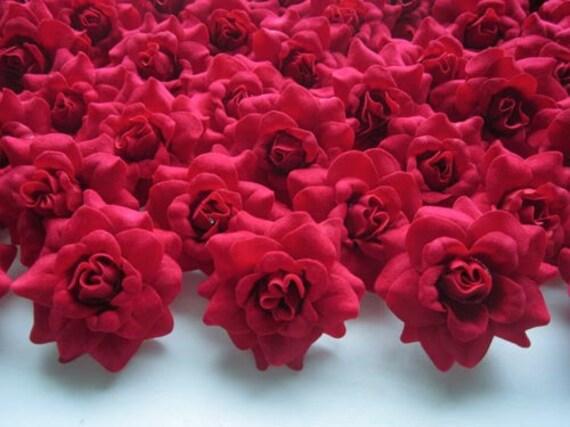 100 rote mini rosen k pfe k nstliche seide blume 175 zoll etsy. Black Bedroom Furniture Sets. Home Design Ideas