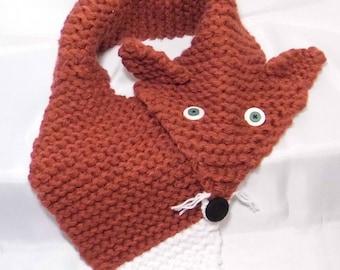 Simple Chunky Faux Fox Scarf