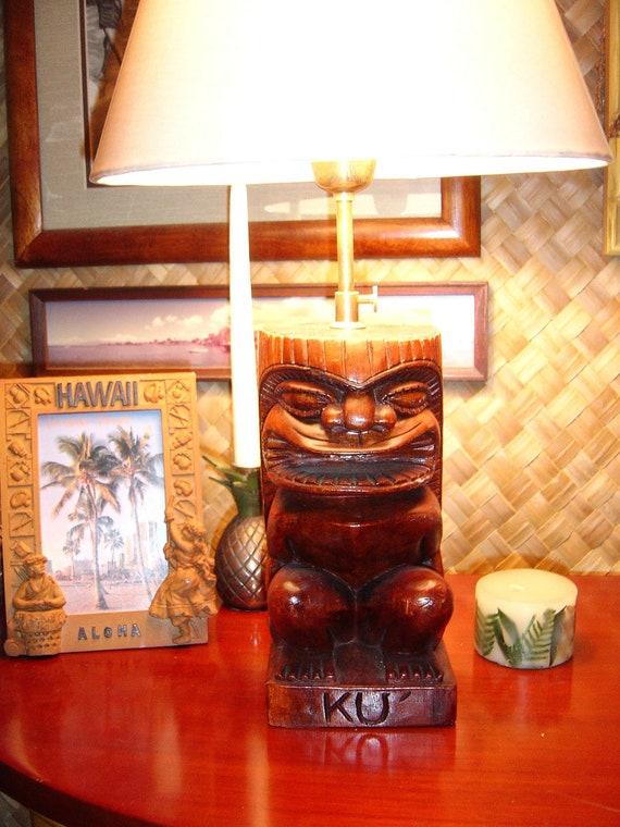 Tiki ku table lamp etsy image 0 aloadofball Image collections