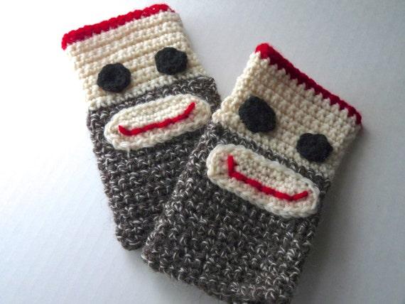 Socke Affe Handschuhe Handarbeit häkeln wollehandschuhe   Etsy