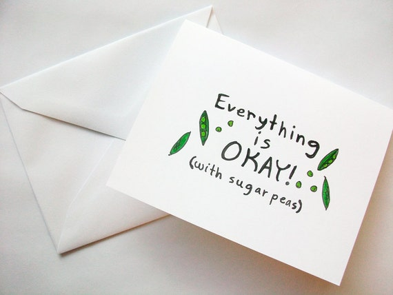 Everything Is Okay With Sugar Peas Bravest Warriors Etsy