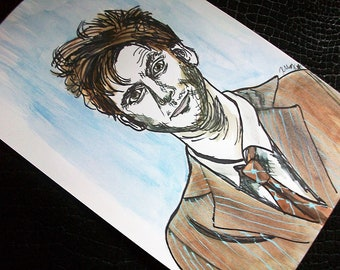 Tenth Doctor- Doctor Who Portrait Art
