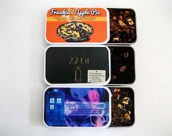 Fandom Inspired Tea Tin- Supernatural, Sherlock or Doctor Who
