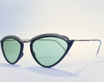 Vintage pin up rockabilly retro sunglasses black gold 50s 60s
