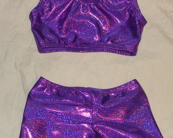 83a351f511 3t toddlers size Ready to ship Sports bra and shorts in Purple Twinkle