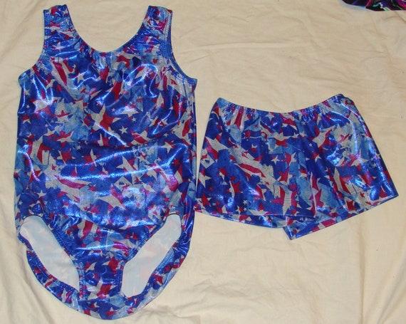 497fb7e10 Ready to ship Gymnastics Leotard and shorts Girls size 10-12a