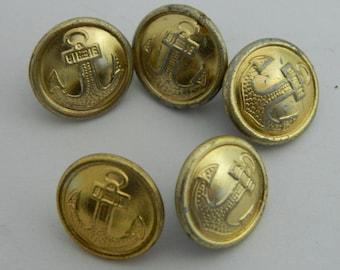 5 Buttons officers of USSR Soviet Army Navy Fleet Original #902S