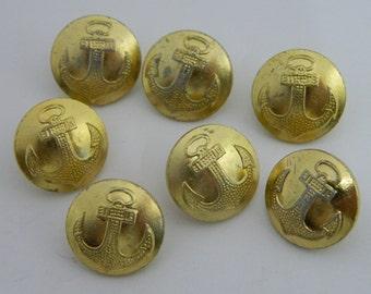 7 Buttons officers of USSR Soviet Army Navy Fleet Original #900S