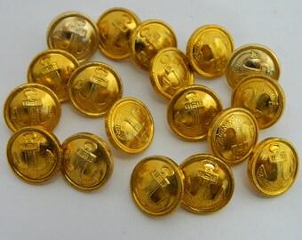 18 Buttons officers of USSR Soviet Army Navy Fleet Original #905S