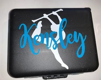 Travel Case Mini Hair Kit Dance Competition Gift Hair Pin Case Majorette Gift- Bobby Pin Case Baton Twirler Gift Dancer Gift