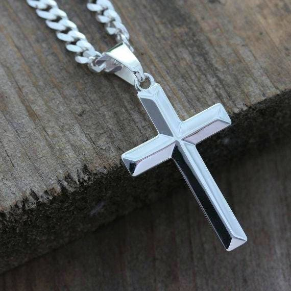 95ffdde5bea Mens Cross necklace. Sterling silver cross necklace Elegant