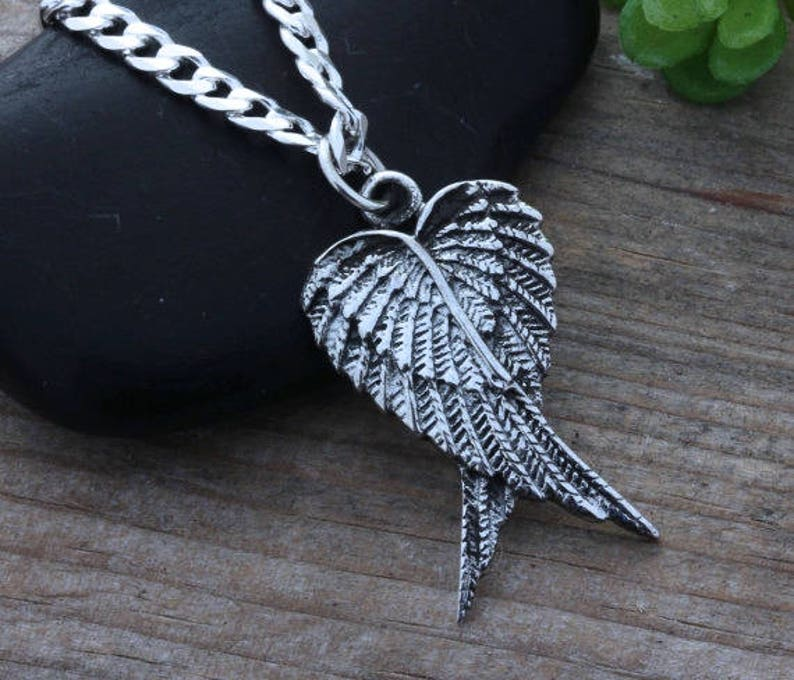 42b5d6f9de5cf mens guardian angel wing necklace. mens necklace- mens wing Necklace. angel  Wing necklace for mens, mens Jwelry. Unisex jewelry. 2059