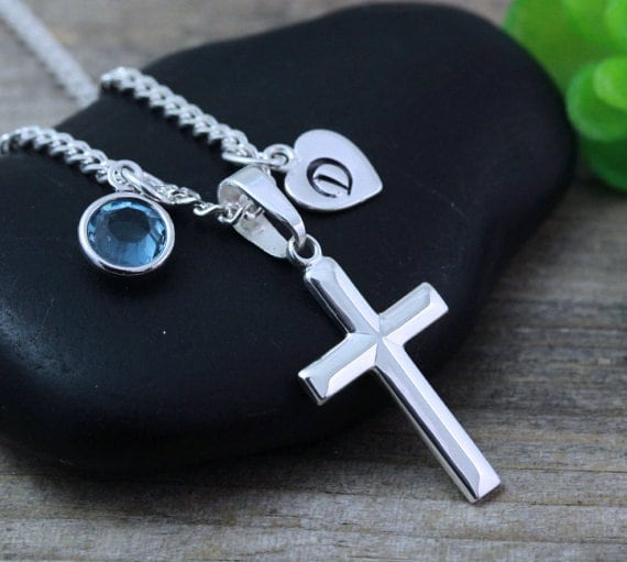 small sizes 925 Oval Tag /& Cross Engraved Gift Boys First Communion Gift