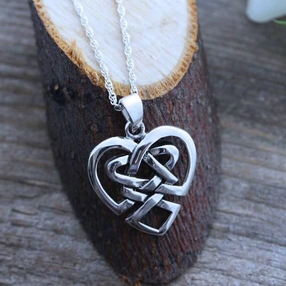 Irish Jewelry Sterling Silver Celtic Heart Anniversary Etsy