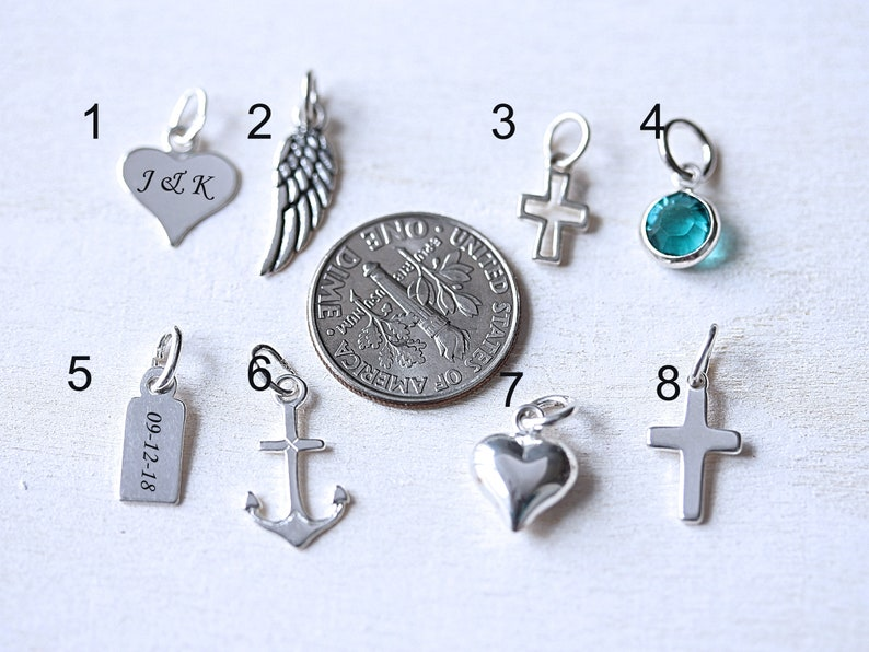 Small Engraved Tag Silver Angel Tag Silver Rectangular Tag Flat Tag Sterling Silver Tag with Lobster Clasp Or Ring Silver Heart Tag
