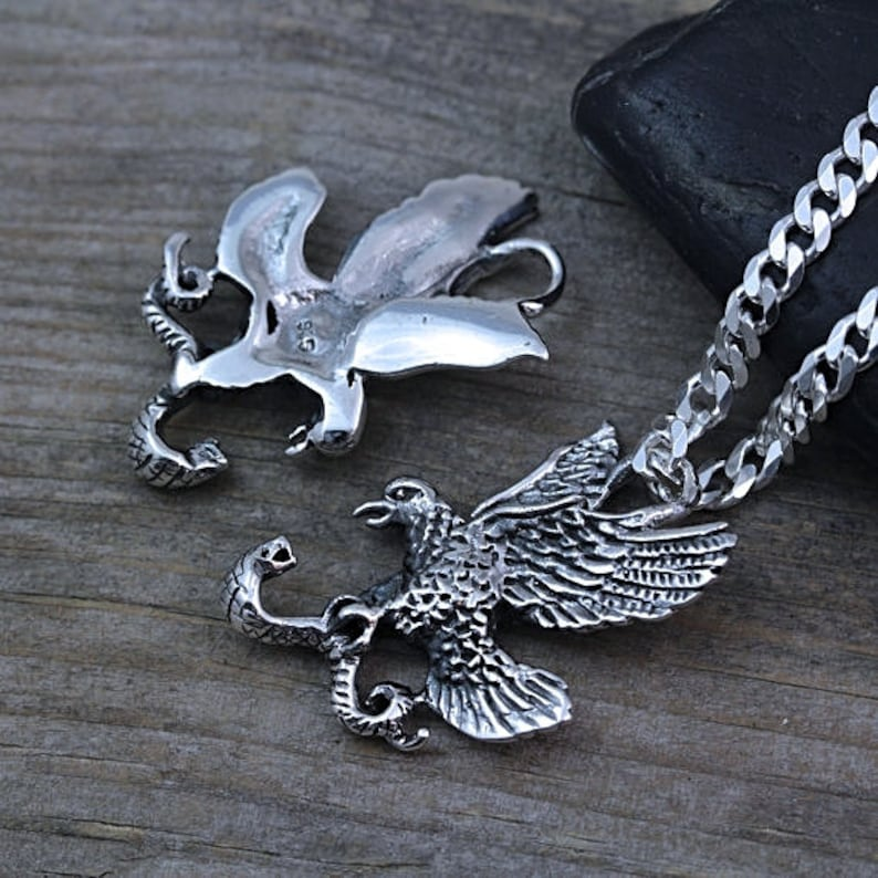 Silver Eagle American Eagle. sterling silver Man Jewelry Mens Necklace Choose Chain Sterling silver Eagle Necklace
