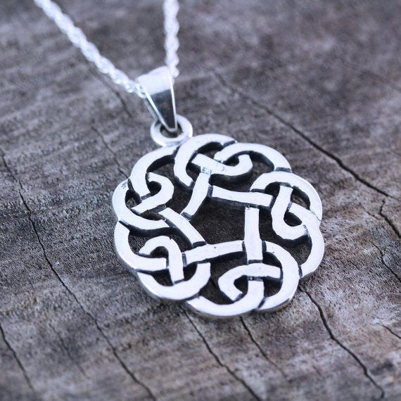 Celtic Knot Friendship Necklace Sterling Silver Celtic Knot Etsy