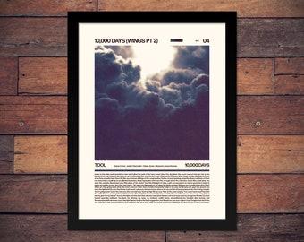 Tool 10000 Days Typographic Lyrics Poster | Etsy