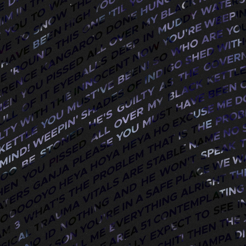 Tool - 10,000 Days - Typographic Lyrics Poster
