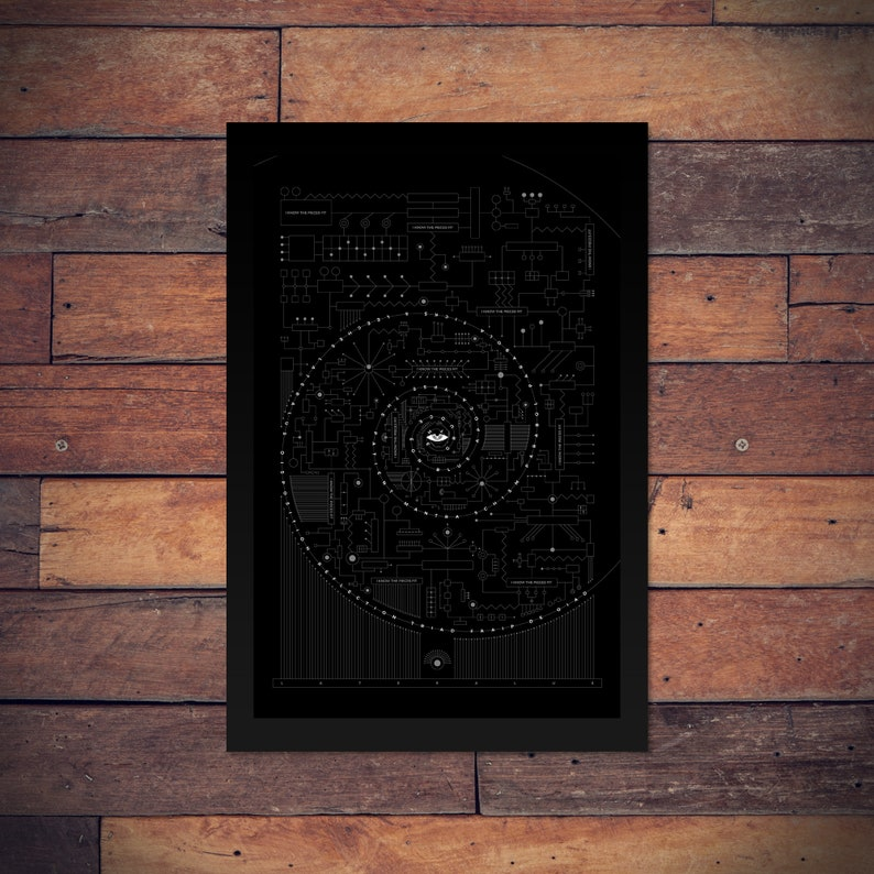 Tool - Lateralus - Typographic Line Art Poster