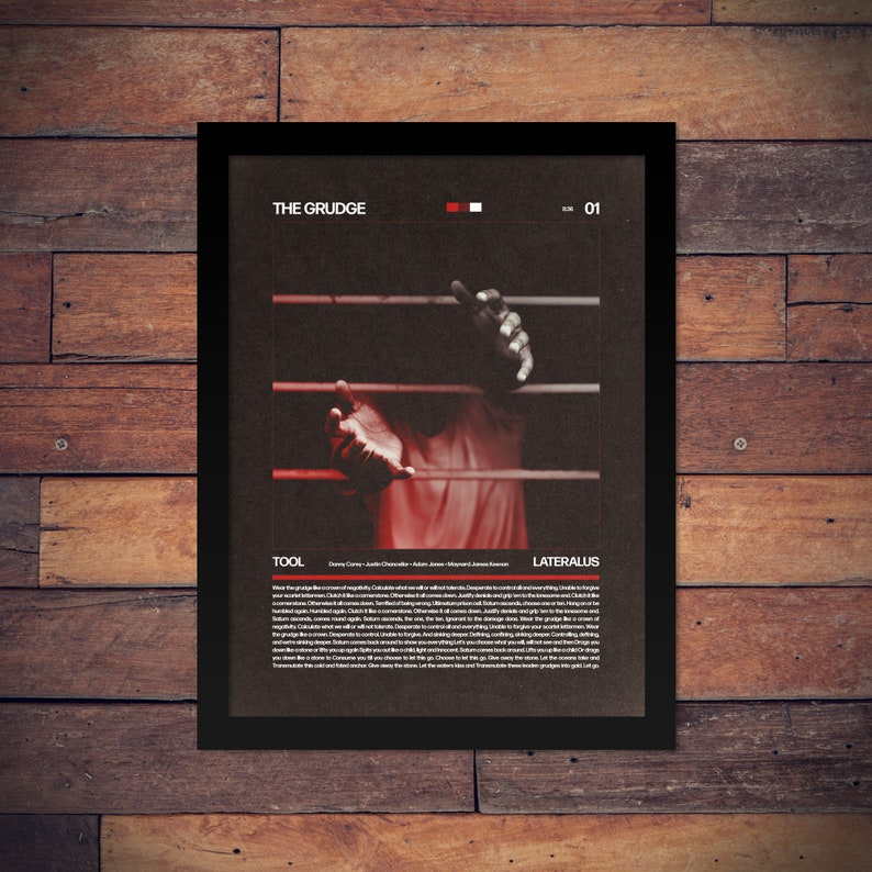 Tool - Lateralus - The Grudge Swiss Design Style Poster