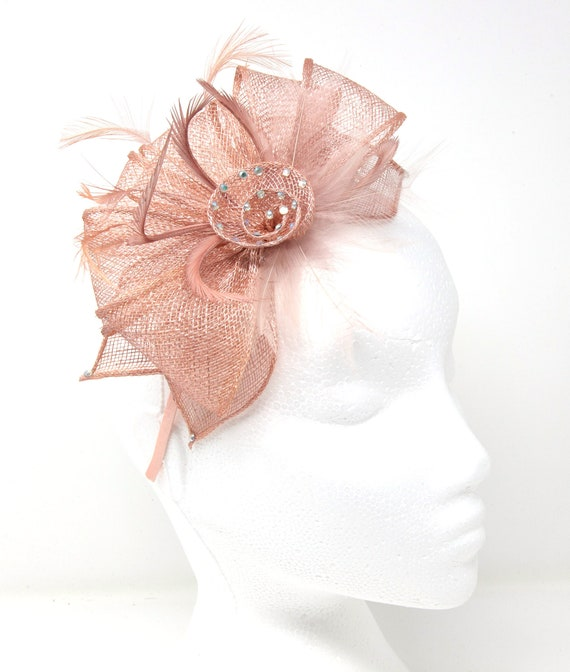 Silver feather and diamante/' Alice band fascinator
