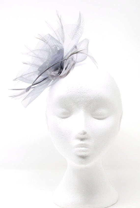 Ivory pearl fascinator witha touch of sparkle on comb Alice band or clip
