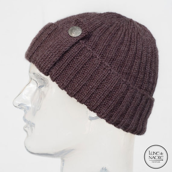 f8af2bfbe03 Fisherman beanie Handknit pure new wool soft and warm