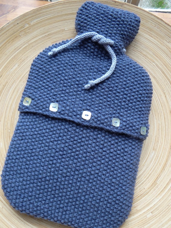 ENOR - Hot Water Bottle Cover - Wool & alpaca - Blue - other colors made to order