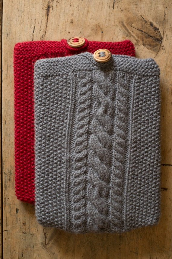 I-BAGGIE - iPad Case Cover Sleeve / Kindle Cover / Tablet Cover / tablet cozy - Wool & Alpaca - Gray - other colors made to order