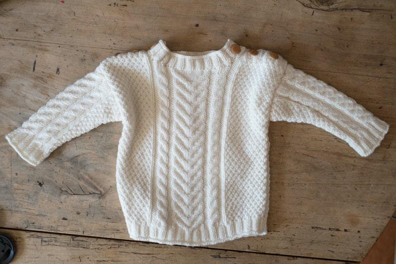 3d71a3ffb Handknit aran baby sweater toddler aran sweater celtic | Etsy