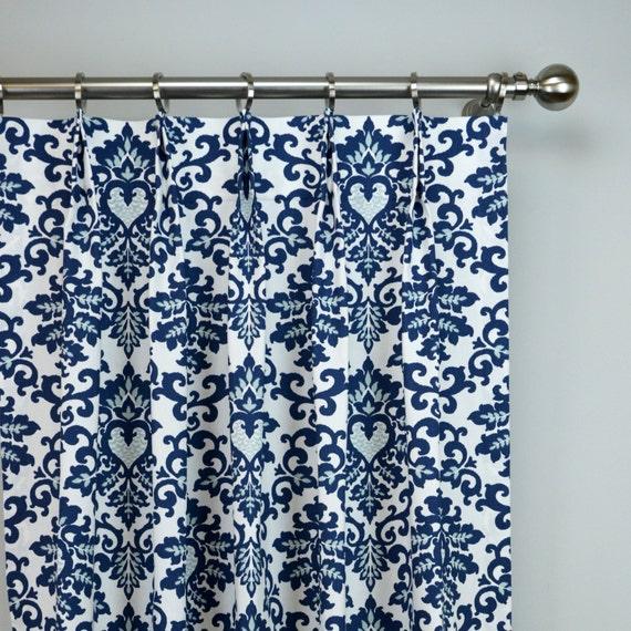 Items Similar To Navy Blue White Cecelia Damask Modern