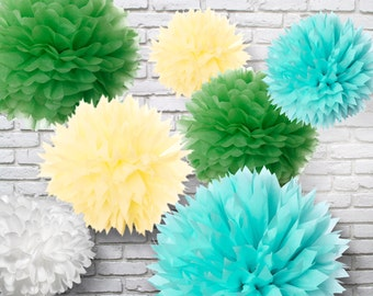 Tissue Paper Pom Poms - Set of 30 - Weddings//Decorations//Receptions//Parties Decor