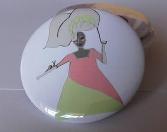 "Bag 56 mm mirror set bridesmaid flowers, here ""umbrella"""