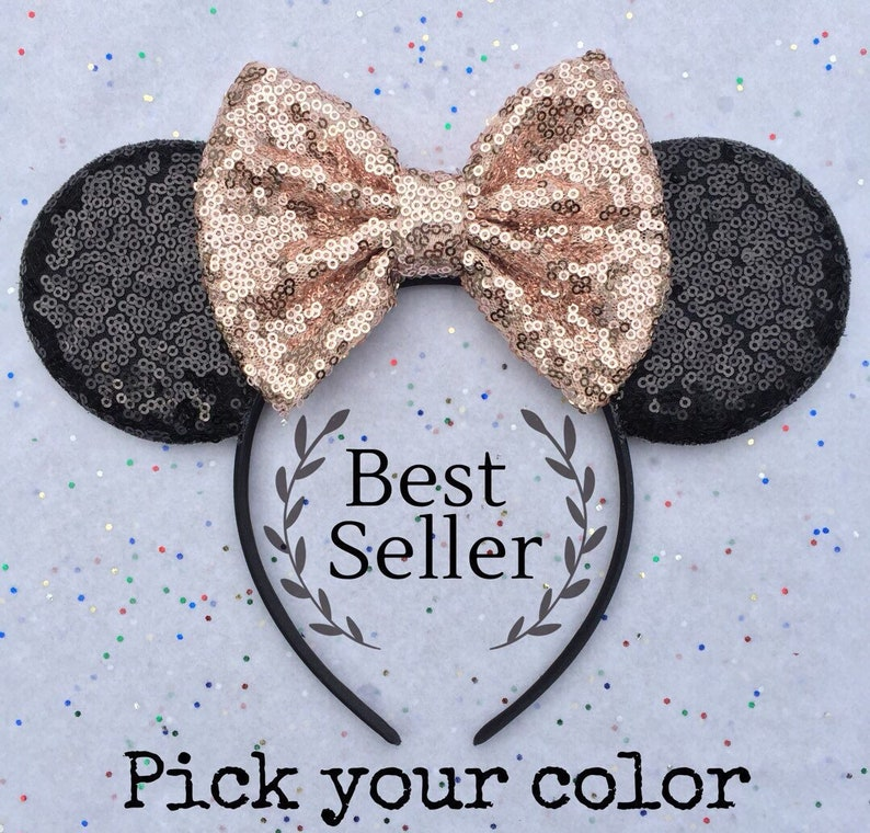 Rose Gold Minnie Mouse Ears Rose Gold Mickey Mouse Ears  3a9eb42170b3