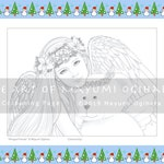 Winged Friends by Mayumi Ogihara - colouring page, printable, instant download, digital stamp, Christmas, winter