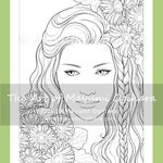Gerbera by Mayumi Ogihara - colouring page, printable, instant download, digital stamp