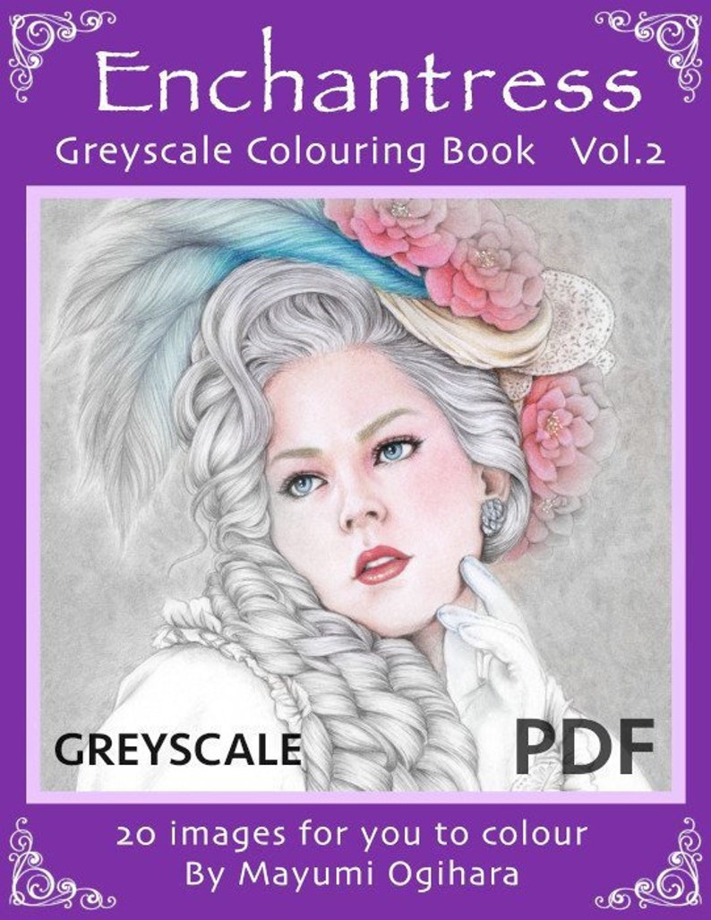 Enchantress Vol.2 GREYSCALE colouring book by Mayumi Ogihara  image 0