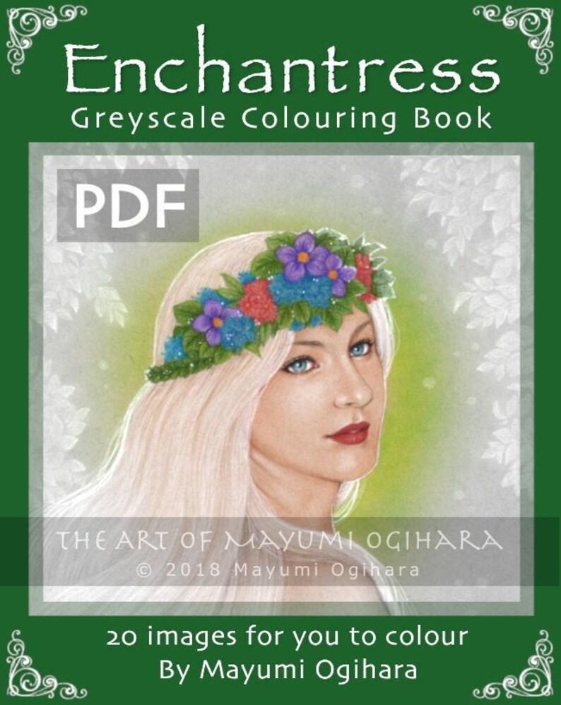 Enchantress Vol. 1 GREYSCALE colouring book by Mayumi Ogihara image 0