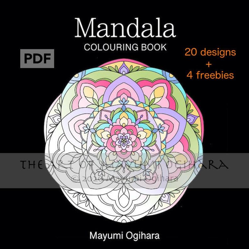 Mandala colouring book by Mayumi Ogihara  20 designs plus 4 image 0